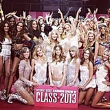 Taylor Swift joined the Victoria's Secret class of 2013 backstage before the show. Source: Instagram user taylorswift