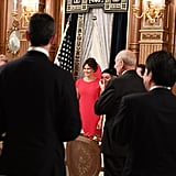 Melania in a Valentino Gown