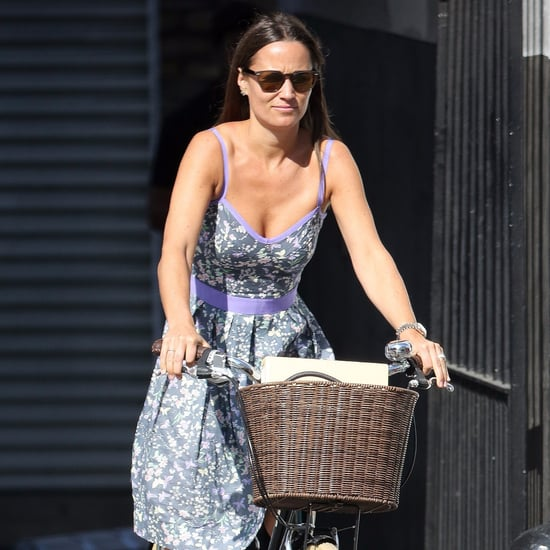 Pippa Middleton Riding a Bike in a Sundress September 2016