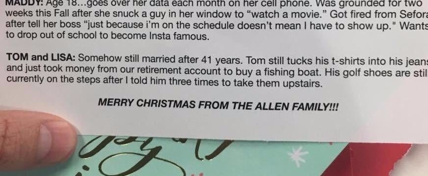 "This Brutally Honest Christmas Card Is the Only ""Family Newsletter"" We Want to Read This Year"