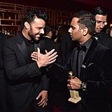 Pictured: Ricky Martin and Aziz Ansari