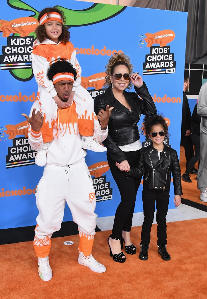 Mariah Carey and Nick Cannon Family 2018 Kids\' Choice Awards ...