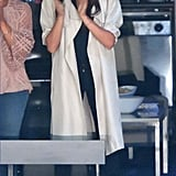 Meghan Wore High-Waisted Everlane Jeans in Toronto
