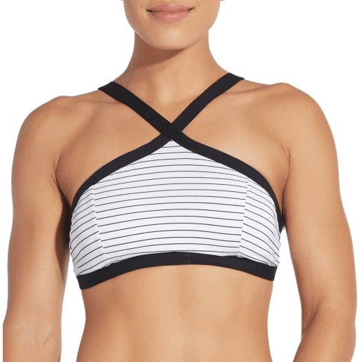 CALIA Women's High Neck Cross Front Swim Top
