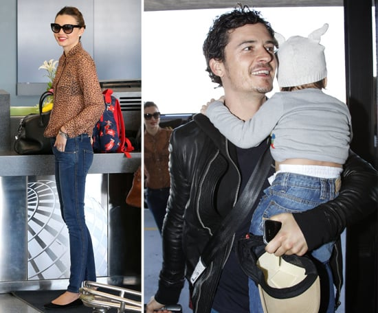 Miranda Kerr, Orlando Bloom, and Flynn at the Airport ... Orlando Bloom And Miranda Kerr Baby Flynn 2013