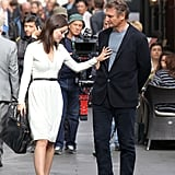 Olivia Wilde and Liam Neeson filmed a scene for The Third Person in Rome.