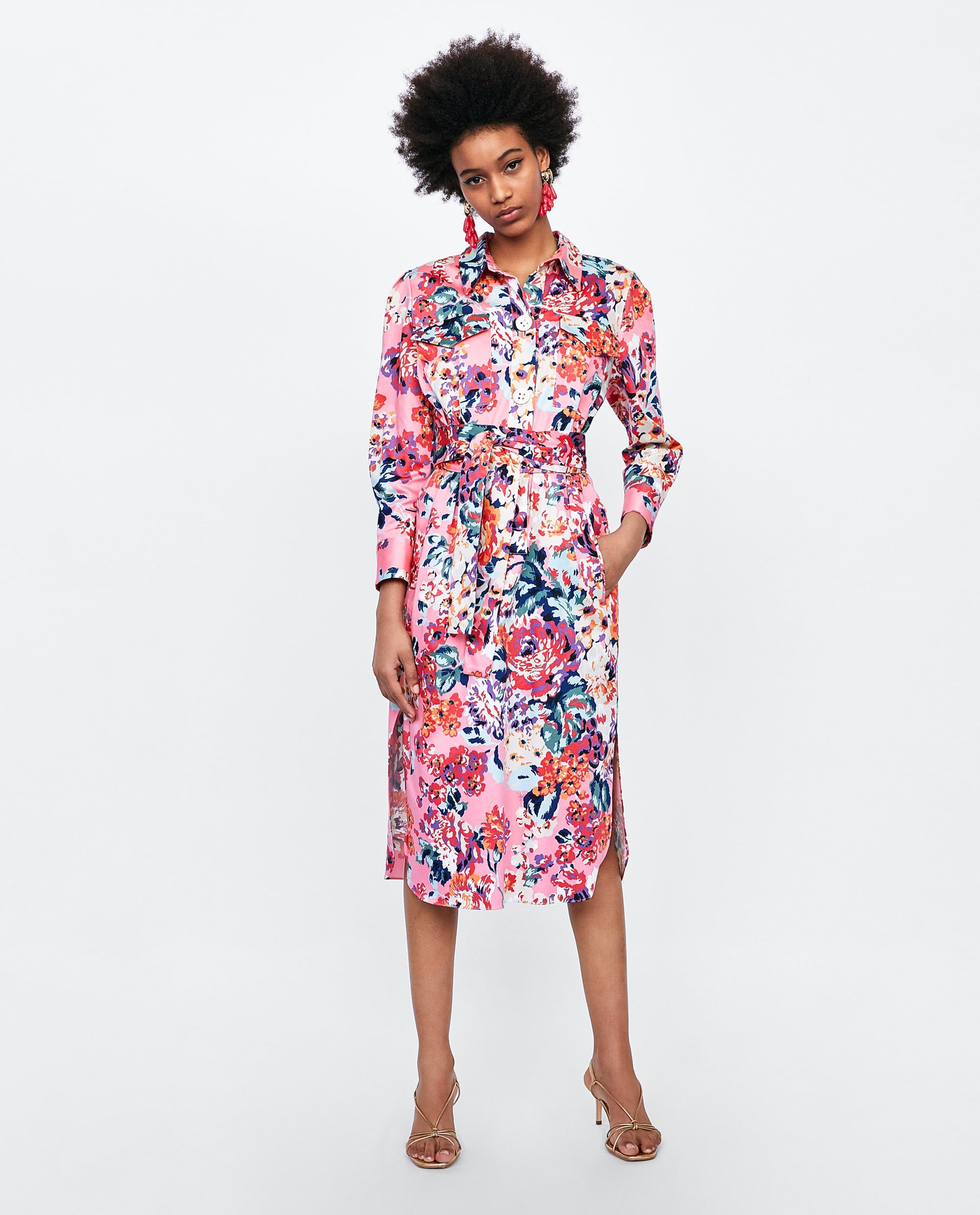 845307a457 Zara Floral Print Shirt Dress   Hold Up — Did You See the Practical ...