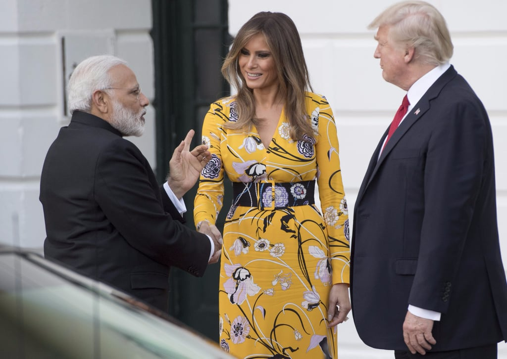 Melania Trump Yellow Emilio Pucci Dress
