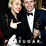 Miley Cyrus and Eddie Redmayne
