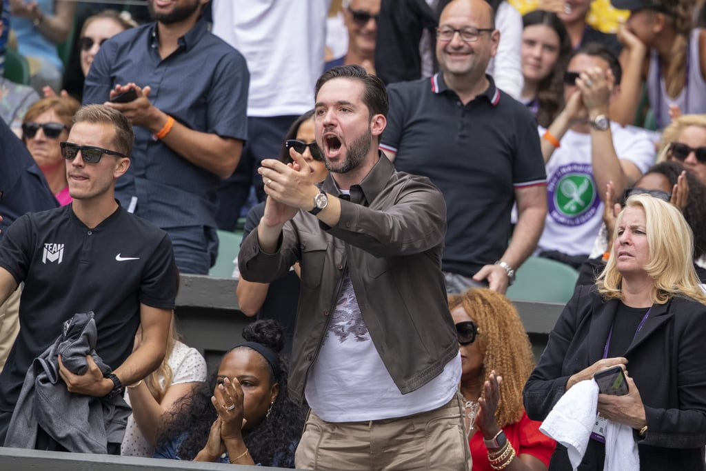 Pictures of Alexis Ohanian Cheering For Serena Williams | POPSUGAR Celebrity UK