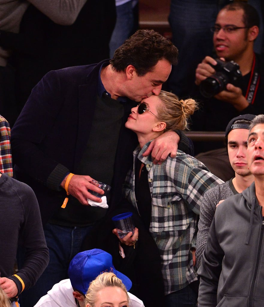 Olivier Sarkozy planted a kiss on Mary-Kate Olsen's forehead.