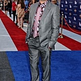 Robert Downey Jr. walked the red, white, and blue carpet.