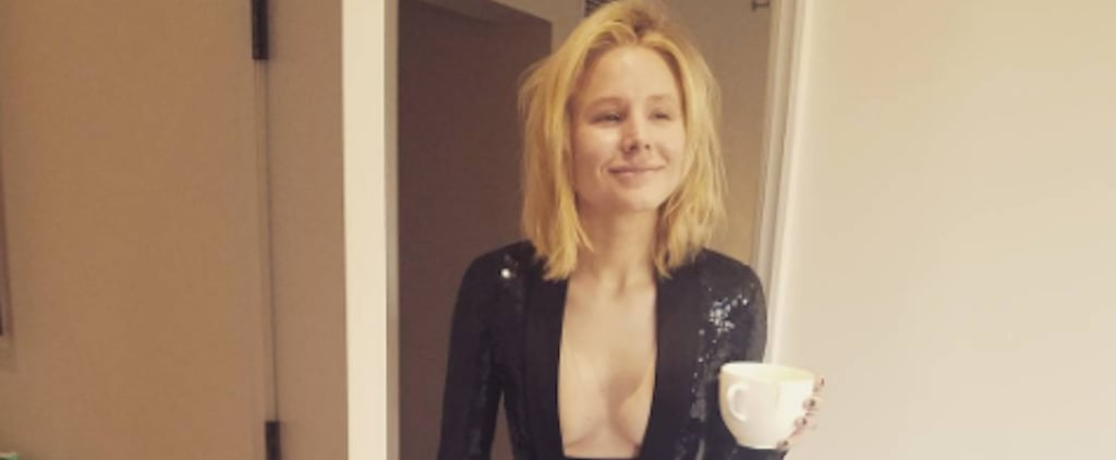 Kristen Bell Shows Her Makeup-Free Face Before the Golden Globe Awards