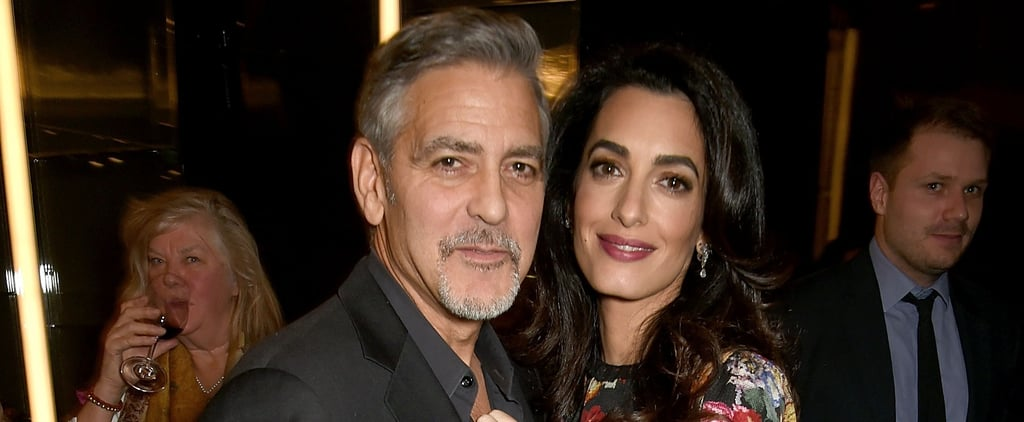 Amal Clooney Sticks by Hubby George at a London Screening