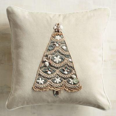 Beaded Shell Tree Pillow ($30)