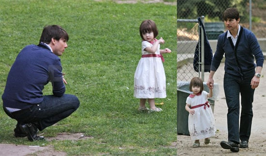 Images of Tom and Suri at a Park in LA