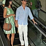 Matthew McConaughey and Camila McConaughey arrived in LA.