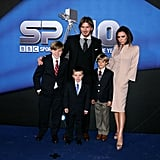The Beckhams popped up on the red carpet at the BBC Sports Awards in Birmingham, England, back in December 2010.