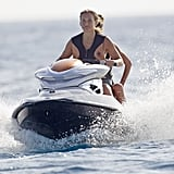 Bar Refaeli rode a Jet Ski with her friend.