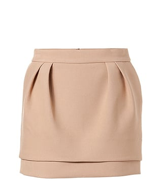 A classic camel skirt with just a touch of girlie sweetness.   Maje Camel Mini Skirt ($195)