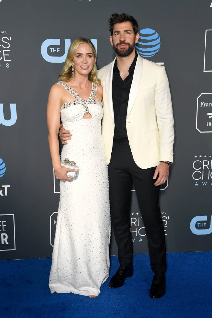 Emily Blunt and John Krasinski at the 2019 Critics' Choice