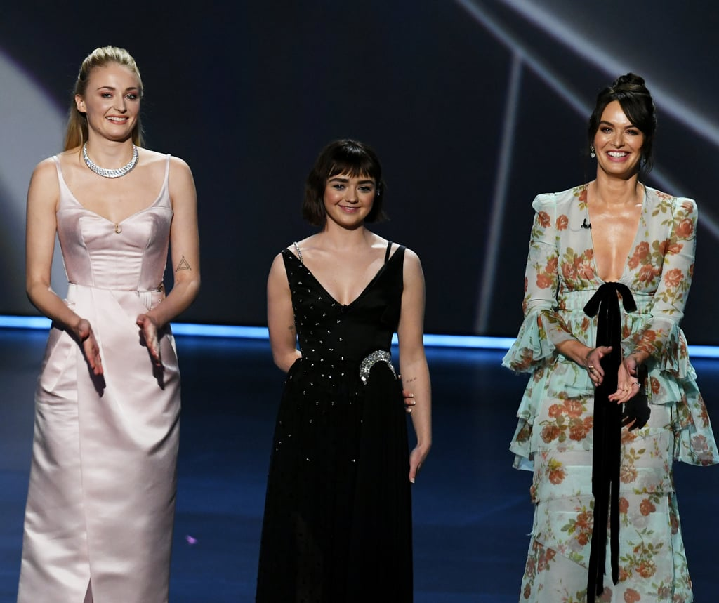 Sophie Turner, Maisie Williams, and Lena Headey at the 2019 Emmys