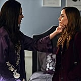 Madeline Stowe as Victoria and Christa B. Allen as Charlotte on Revenge. Photo courtesy of ABC