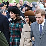 British Royal Family Christmas Church Service 2017