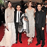 Jenna Lyons, Eddie Borgo, Arizona Muse in Altuzarra, and Joseph Altuzarra