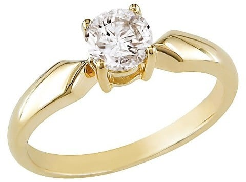 Allura Diamond Solitaire Ring in 14k Yellow Gold ($2,400)
