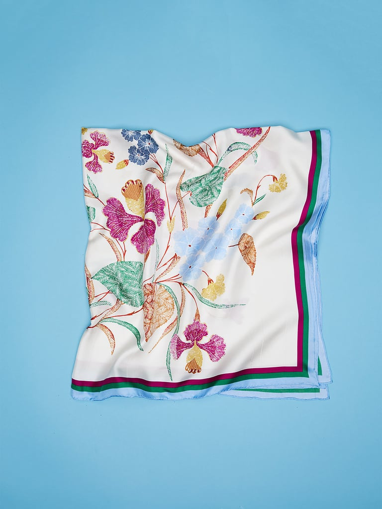 DVF's Bezou Silk Twill Scarf ($178) features the floral print that goes with everything.