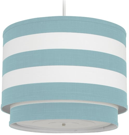 This striped pendant lamp ($294) will bring nautical charm to the space.