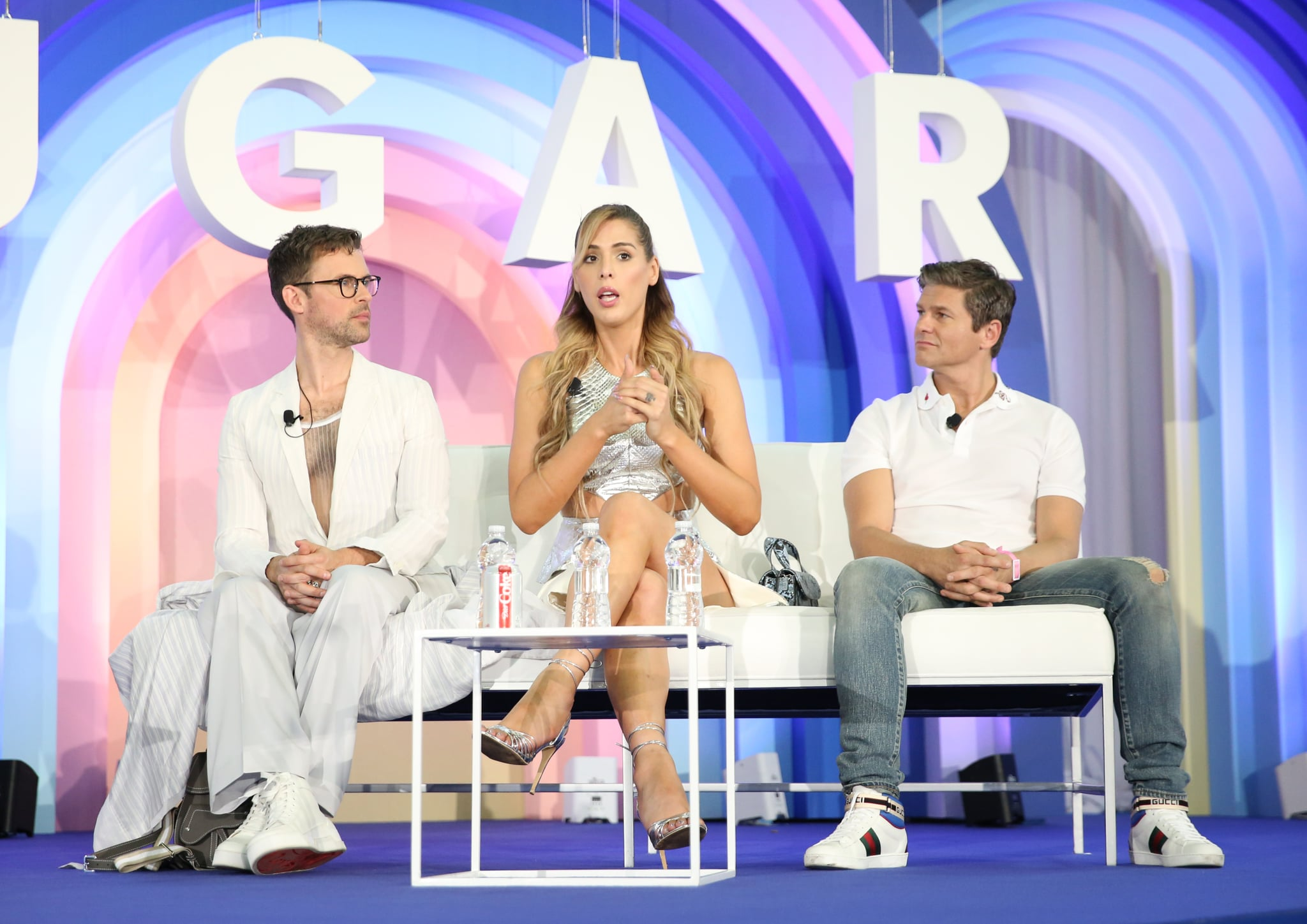 Brad Goreski, Carmen Carrera, and David Burtka