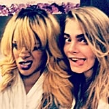 Rihanna and Cara Delevingne, the most popular girl in the world. Source: Instagram user caradelevingne