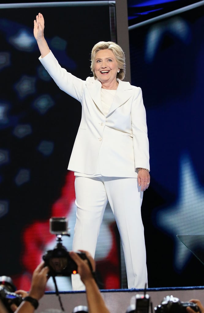Hillary Clinton's White Suit at DNC 2016