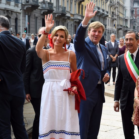 Queen Maxima Lisa Marie Fernandez Dress June 2017