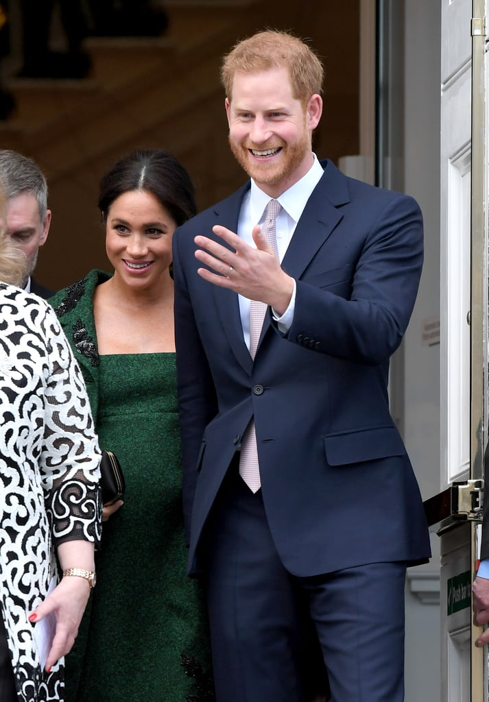 "The hills are alive with the sound of Prince Harry's singing voice! Following an appearance at Canada House with Meghan Markle on Monday, the father-to-be said goodbye to a group of young Canadians by singing ""So Long, Farewell"" from The Sound of Music. Royal producer Lizzie Robinson shared the adorable clip on Twitter, which shows Meghan cracking a smile at her husband's cute moment.  Harry and Meghan haven't become parents yet, but the royal is already cracking dorky dad jokes. In addition to his cute tune, Harry recently joked about Meghan's pregnancy during their three-day tour of Morocco. Just further proof that Harry is going to be such a fun and loving dad!       Related:                                                                                                           Everyone Else Can Go Home Now, Because 2019 Belongs to Prince Harry and Meghan Markle"