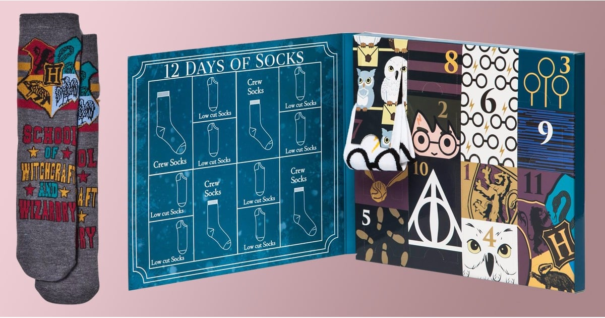 12 days of harry potter socks advent calendar popsugar entertainment