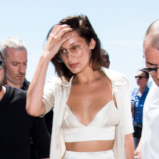 Bella Hadid Silk Outfit in Cannes