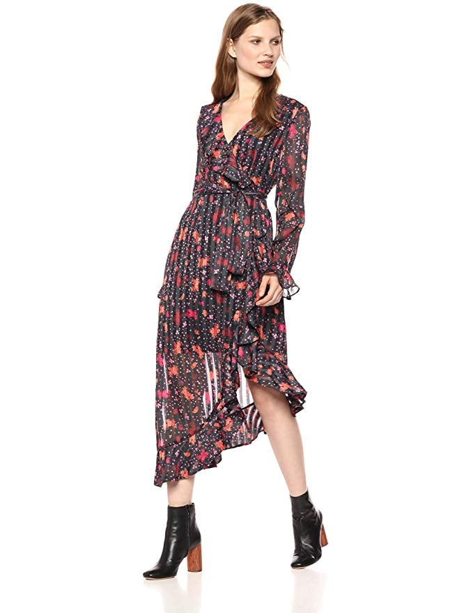 CMeo Collective Significant Asymmetrical Floral Wrap Dress