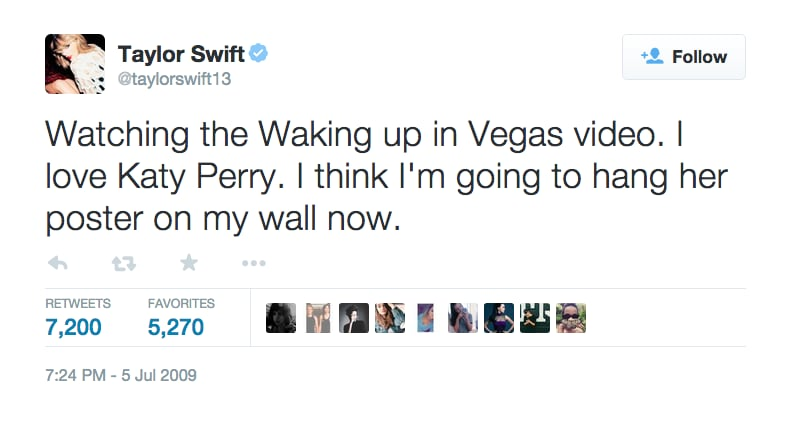 July 5, 2009: Taylor Mentions Katy, Again