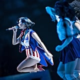 Katy Perry performed her popular hits at the concert.