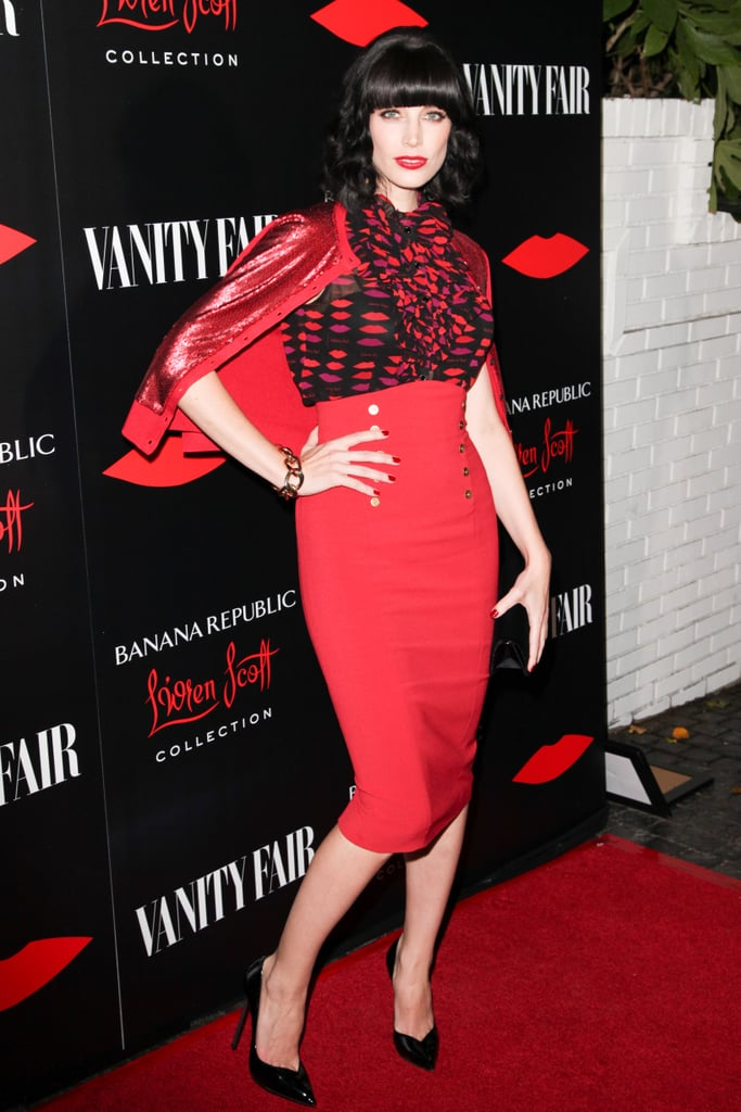 Jessica Paré at the Banana Republic L'Wren Scott Collection launch.