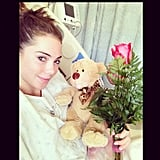 Gymnast McKayla Maroney got a get-well gift during her hospital stay. Source: Instagram user mckaylamaroney