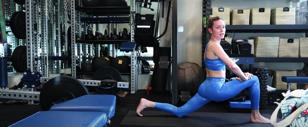 Get Brie Larson's Post-Workout Stretching, Recovery Routine
