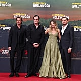 Brad Pitt, Quentin Tarantino, Margot Robbie and Leonardo DiCaprio at the Berlin premiere of Once Upon a Time in Hollywood.