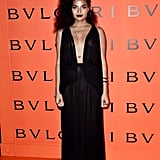 Indya Moore at the Bulgari Party at New York Fashion Week