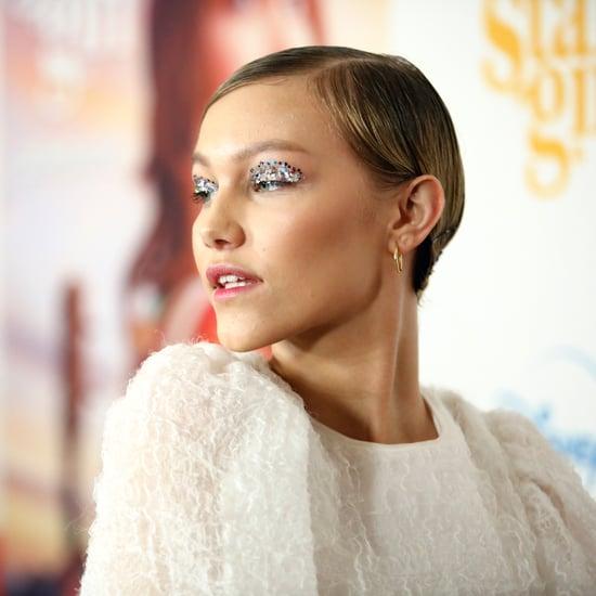 Celebrity Glitter Eye Makeup Spring Trend