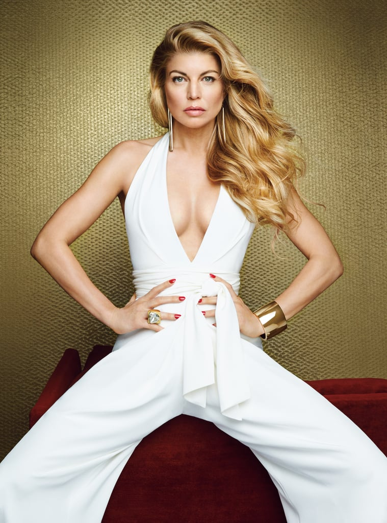 """Fergie stuns in Allure's February issue, sporting a sexy white jumpsuit and a breezy black-and-white dress. In her interview with the magazine, Fergie opens up about her relationship with Josh Duhamel, joking about how they met on the set of Las Vegas in 2004 shortly after Josh told a reporter he'd dreamed about her. """"Yeah, yeah, exactly,"""" she said. """"He wanted to get in my pants."""" Of their relationship, Fergie explained, """"We grew into realising that we wanted the same things in life. We wanted the same path. We both come from Catholic families."""" The couple has been married for six years now, and they continue to work on their relationship through therapy. Josh is """"not afraid"""" of couples therapy, Fergie said, adding, """"He doesn't feel like he's not man enough."""" She and Josh have also made a """"two-week rule"""" to be sure that's the longest amount of time they'll be apart. When it comes to touring, Fergie said, """"We're going to have a trade off. He's going to have to come on tour with Axl for a while, and then there'll be a break. He'll take a job; I'll be on set with [Axl]."""" Check out the sexy snaps of Fergie below, then check out Allure's full feature on the singer, plus a look at her style evolution."""