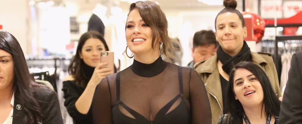 Ashley Graham Loves Her Lingerie So Much, She Straight Up Wore It to the Airport